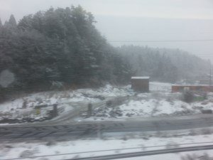 Snow from the train